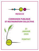 Journée de réflexion «Commande publique et restauration collective» 23/01/20 - Pontivy